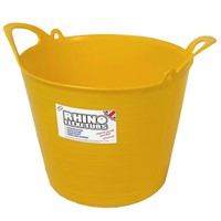 Rhino Heavy Duty Flex Tub 40ltr Yellow