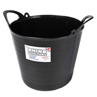 Rhino Heavy Duty Flex Tub 40ltr Black