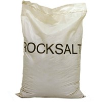 White De-icing Rocksalt in 25kg bag