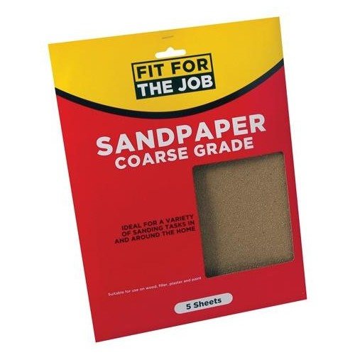 Rodo Pack Of 5 Coarse Sandpaper Sheets
