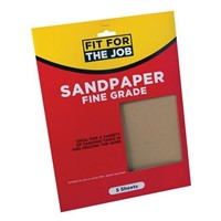 Rodo Pack Of 5 Fine Sandpaper Sheets