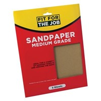 Rodo Pack Of 5 Medium Sandpaper Sheets