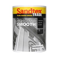 Sandtex Magnolia High Cover Smooth Masonry Paint, due to its microseal technology, gives a dirt resistant, breathable and waterproof finish. Smooth masonry paint is a creamy formulation that covers large areas fast and we recommend 2 coats for best results. It is suitable for most exterior surfaces as long as dry and sound and is easily applied with a masonry brush.