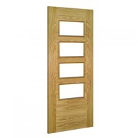 Seville 4L Glazed Internal Pre-Finished Oak Door 1981x762x35mm