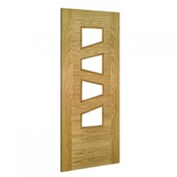 Seville 4LS Glazed Internal Pre-Finished Oak Door 1981x610x35mm