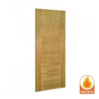 Seville Internal Pre-Finished Oak Fire Door 1981x610x45mm