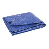 Blue 80gsm Economy Tarpaulins are lightweight and easy to handle, and are widely used as temporary waterproof covers for applications such as groundsheets, log store covers, building site covers and winter grit and salt stack covers.