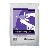 Thistle Bonding Coat is an internal undercoat plaster for smooth and low-suction backgrounds such as some brickwork, blockwork, concrete, expanded metal lathing and plasterboard. If given a final coat of Thistle Multi Finish it will provide a smooth, high quality surface to walls and ceilings suitable for direct decoration.