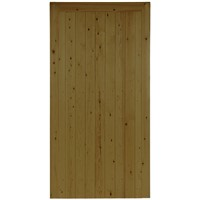 Town 1778x900mm Brown Treated FLB T&G Matchboard Pedestrian Gate