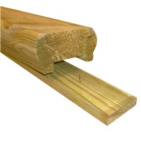 The Richard Burbidge Dual Purpose Decking Rail, including Fillets, is designed for use with decking balustrade and will give visually stunning looks to your decking project. Being pressure treated they will give a quality, long lasting finish.