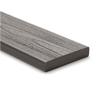 Trex transcend 25mm x 140mm x 4880mm solid edge decking board in Island Mist colour is stain, fade, scratch and mould resistant because of its durable, three-side shell protection.