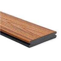 Trex transcend 25mm x 140mm x 4880mm grooved edge decking board in Tiki Torch colour is stain, fade, scratch and mould resistant because of its durable, three-side shell protection. Commonly used with Trex Universal Clip and Trext Start Clip to create a secret fixing system where no screw head is visible on the walking surface.