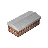 "Supreme 165x610mm (6.5""x24"") Twice Weathered Concrete Coping"