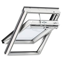 Velux White 55x78cm Centre Pivot Integra Solar Window GGU CK02 007030