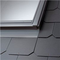 VELUX provide a range of flashing options to suit your roofing material. Flashing kits are designed to integrate perfectly into the roofing material, meaning your window is completely weathertight.<br> >  For slate up to 8mm thick<br>>  Suitable for roof pitch 15° - 90°