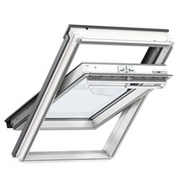Velux  GGL CK04 2070 White Painted 55x98cm Centre Pivot Roof Windows double glazed unit, with laminated inner pane provides increased safety, making this a great choice for loft conversions in a family environment.