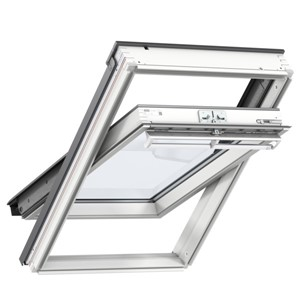 Velux  GGL SK06 2070 White Painted 114x118cm Centre Pivot Roof Windows double glazed unit, with laminated inner pane provides increased safety, making this a great choice for loft conversions in a family environment.
