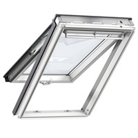 Velux  GPL SK06 2070 White Painted 114x118cm Top Hung Roof Windows double glazed unit, with laminated inner pane provides increased safety, making this a great choice for loft conversions in a family environment.