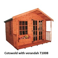 600mm Verandah addition for Cotswold & Rosedale Summerhouses 806 808 & 810. Please note this is for the Verandah ONLY.