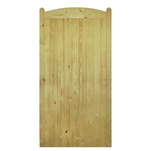 Wellow Tall Arch Top 1800x900mm Green Treated FLB T&G Matchboard Gate