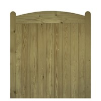 The Wellow is a quality framed, ledged and braced mortice gate. The Wellow uses tongue and grove match boarding with an archer top and rounded stiles which offer privacy and security. Supplied in pressure treated softwood for durability.