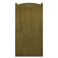Wellow Tall Arch Top 1800x900mm Brown Treated FLB T&G Matchboard Gate
