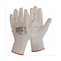 White PU Gloves